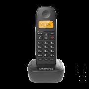 TELEFONE SEM FIO INTELBRAS TS2510 COM IDENTIFICADOR PRETO