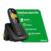 TELEFONE SEM FIO INTELBRAS TS3110 COM IDENTIFICADOR PRETO