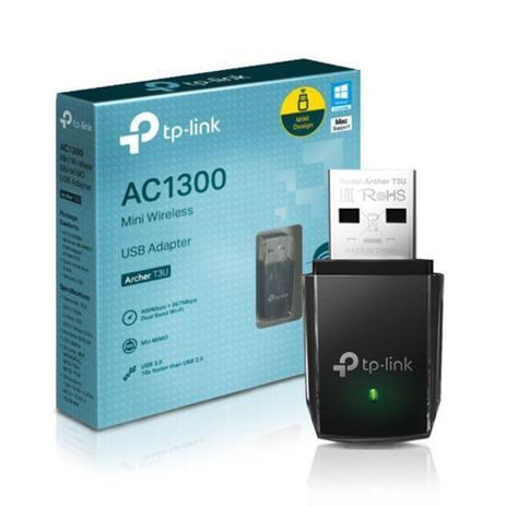 ADAPTADOR WIRELESS USB AC1300 DUAL BAND ARCHER T3U TP-LINK