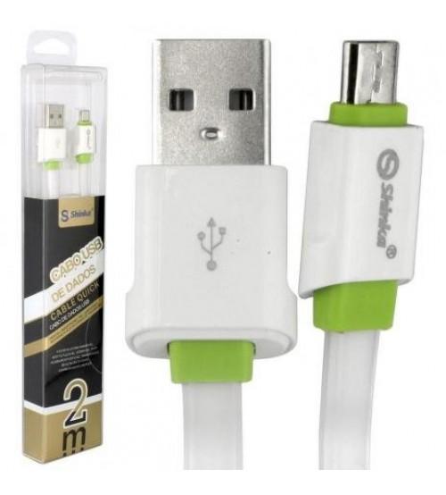 CABO DE DADOS USB PARA MICRO V8 2.1A SHINKA/EXBOM