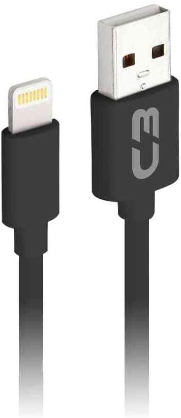 CABO USB PARA IPHONE C3PLUS CB-L20 PRETO