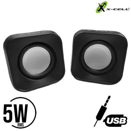CAIXA DE SOM USB 5W RMS X-CELL XC-CM-13 PRETA