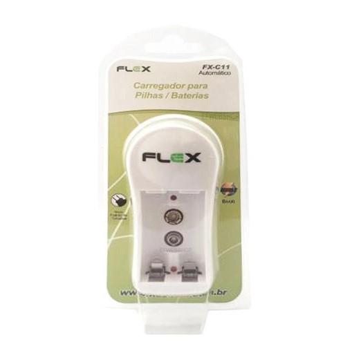 CARREGADOR DE PILHA S/PILHA PARA 2A, 3A, 1.2V FLEX FX-C11