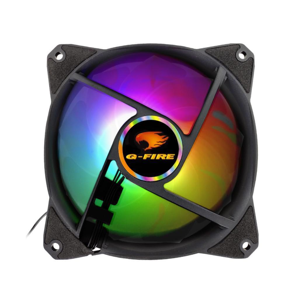 COOLER FAN 12X12 LED G-FIRE MULTICOLOR EW2012A