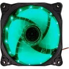 COOLER FAN 12X12 LED G-FIRE VERDE EW1512N