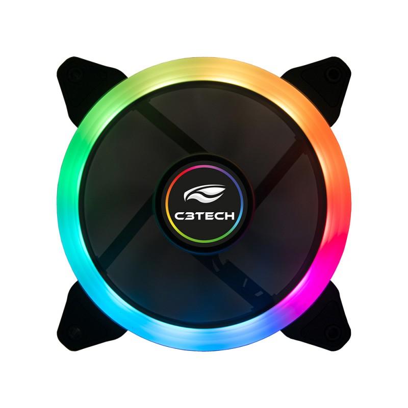 COOLER FAN 12X12 LED RGB ARGB C3TECH F7-L200RGB