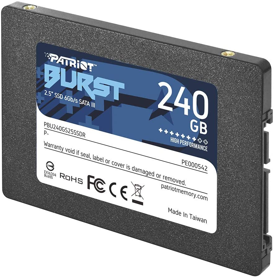 DRIVE SSD INTERNO 2.5 240GB SATA III PATRIOT PE000542