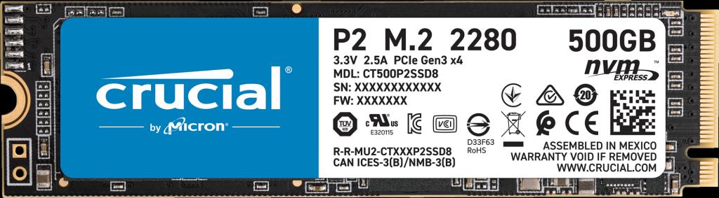 DRIVE SSD INTERNO 500GB M.2 NVME CRUCIAL CT500P2SSD8