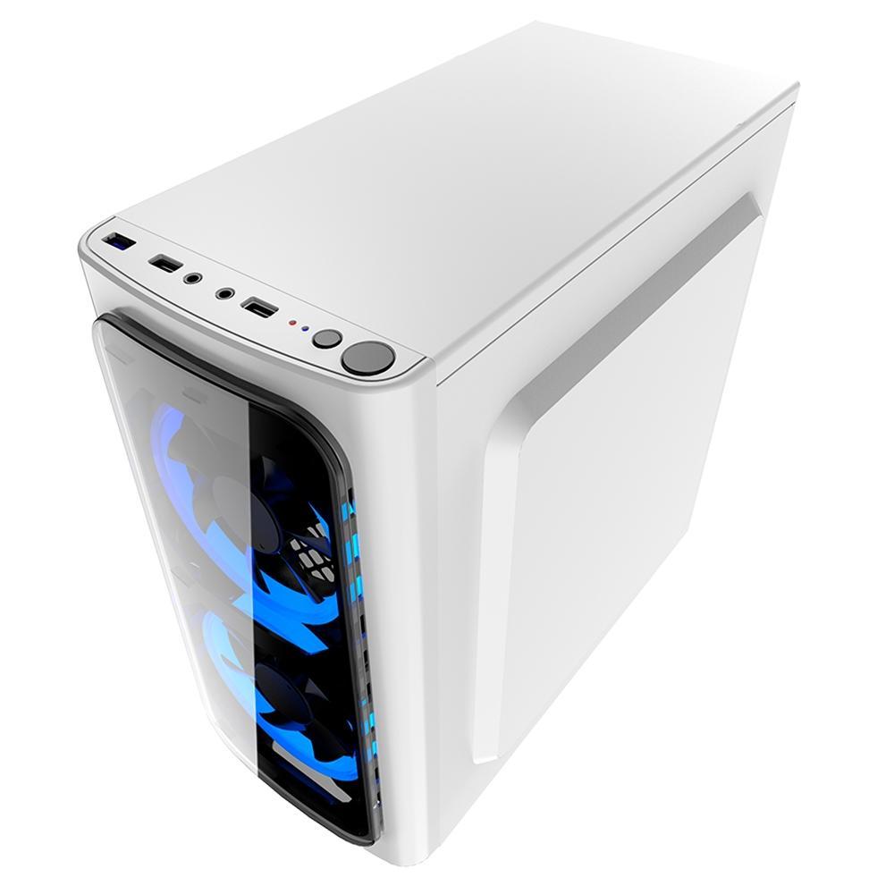 GABINETE GAMER S/FONTE LAT ACRILICO DISCOVERY WHITE XWISE 6624