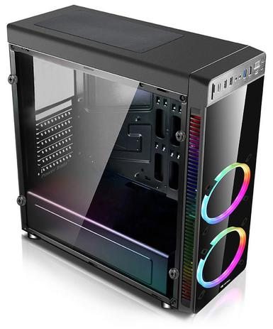 GABINETE GAMER S/ FONTE RGB C3TECH MT-G1000BK PRETO