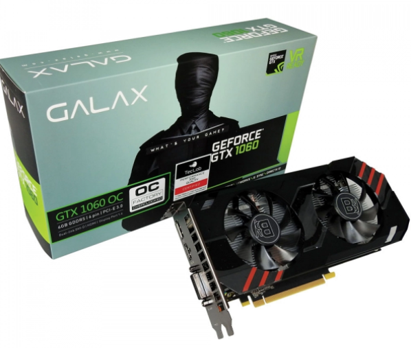 GEFORCE GALAX GTX 1060 06GB DDR5 192BITS DVI/HDMI/DP