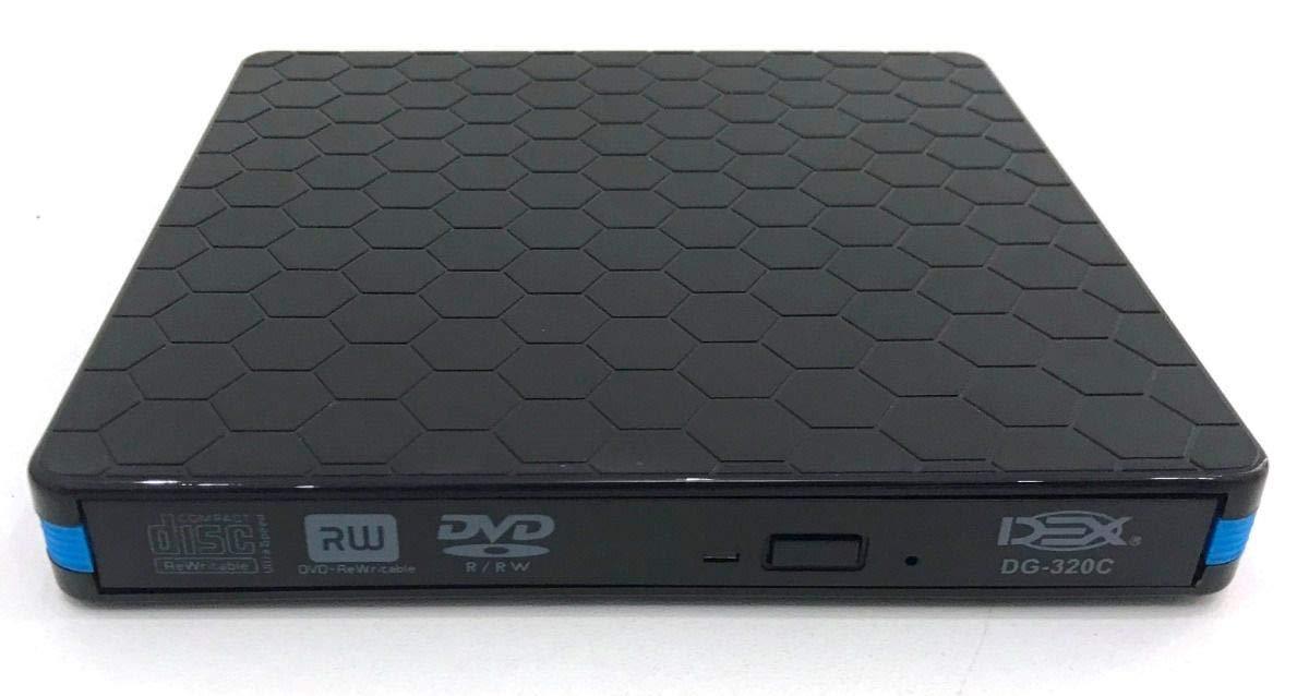 GRAVADORA CD/DVD-RW EXTERNA USB 3.0 TYPE-C DEX DG-320C PRETA