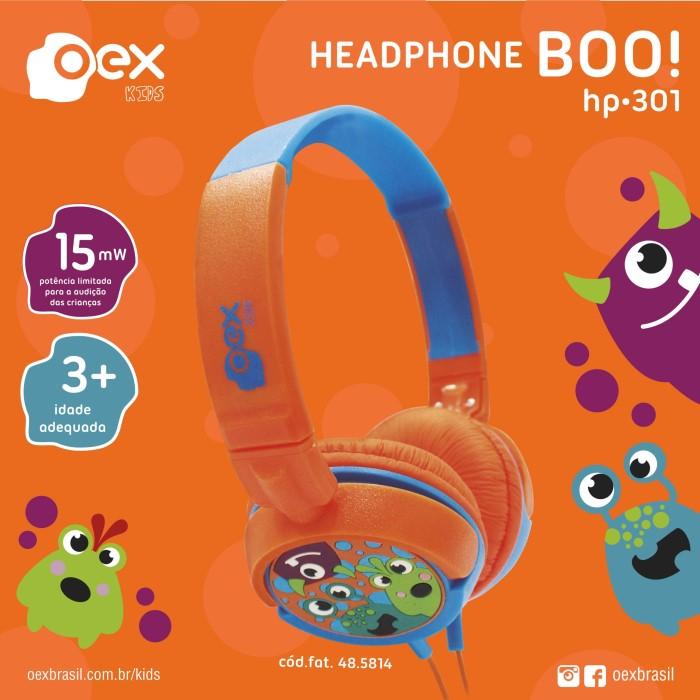 HEADPHONE B00 INFANTIL OEX KIDS HP-301