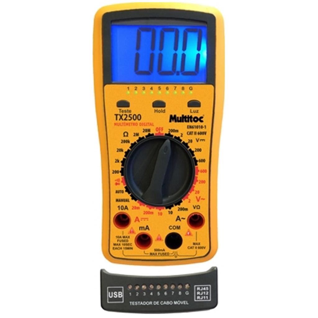 KIT MULTIMETRO DIGITAL TX 2500 MULTITOC MUTX2500