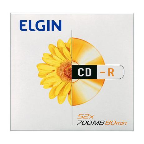 MIDIA CD-R 52X ELGIN 700MB / 80MIN - ENVELOPE COM 01UN