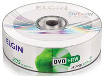 MIDIA DVD-RW 4.7GB PINO COM 25UND. ELGIN