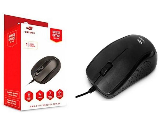 MOUSE USB 1000DPI C3TECH MS-25BK PRETO