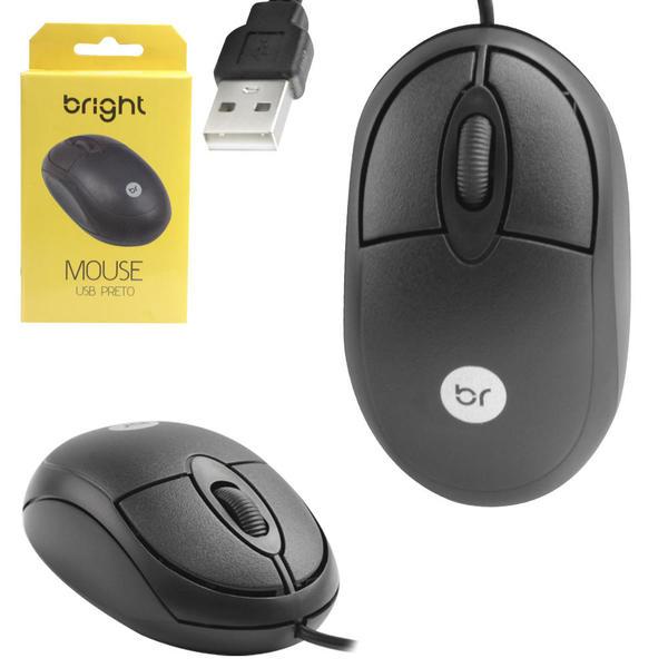 MOUSE USB 800DPI BRIGHT 0106 PRETO