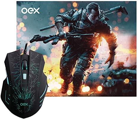 MOUSE USB COM MOUSE PAD GAMER OEX MC-101 PRETO