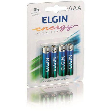 PILHA ALCALINA 3A ELGIN LR03 (BLISTER COM 04 UND)