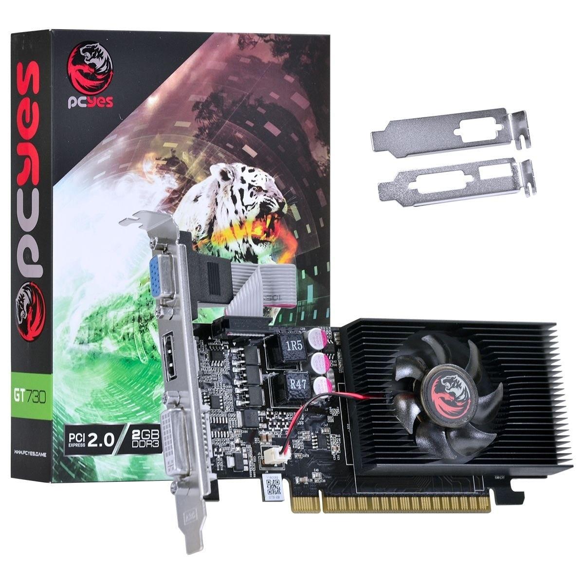 PLACA DE VIDEO PCI-E PCYES GT 730 2GB DDR3 128BITS