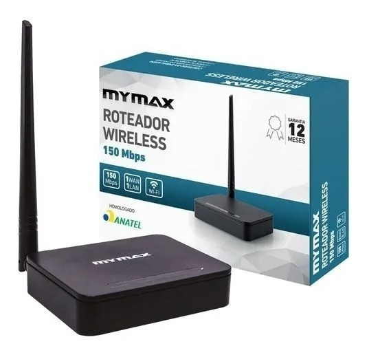 ROTEADOR WIRELESS 300MBPS 2 ANTENAS MYMAX WR9361A-BK