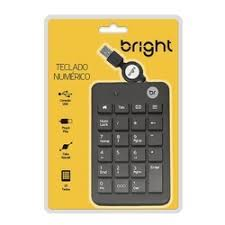 TECLADO NUMÈRICO USB BRIGHT PRETO 0134