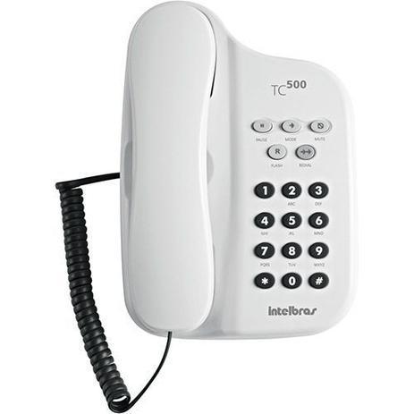 TELEFONE COM CHAVE INTELBRAS TC500 BRANCO