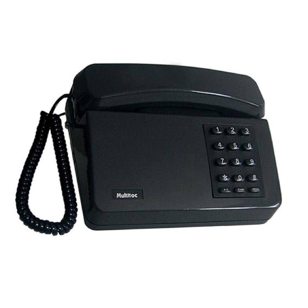 TELEFONE PADRAO C/ CHAVE MULTITOC MUTE0050 PRETO