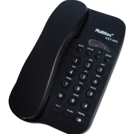 TELEFONE STUDIO MULTITOC MUTE0195 PRETO
