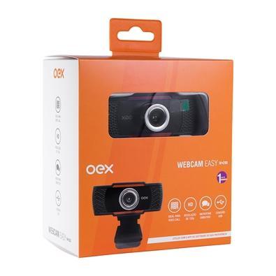 WEBCAM EASY 720P USB 2.0 OEX W200 PRETO/LARANJA