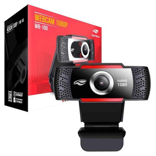 WEBCAM HD 1080P USB 2.0 C3TECH WB-100 PRETA