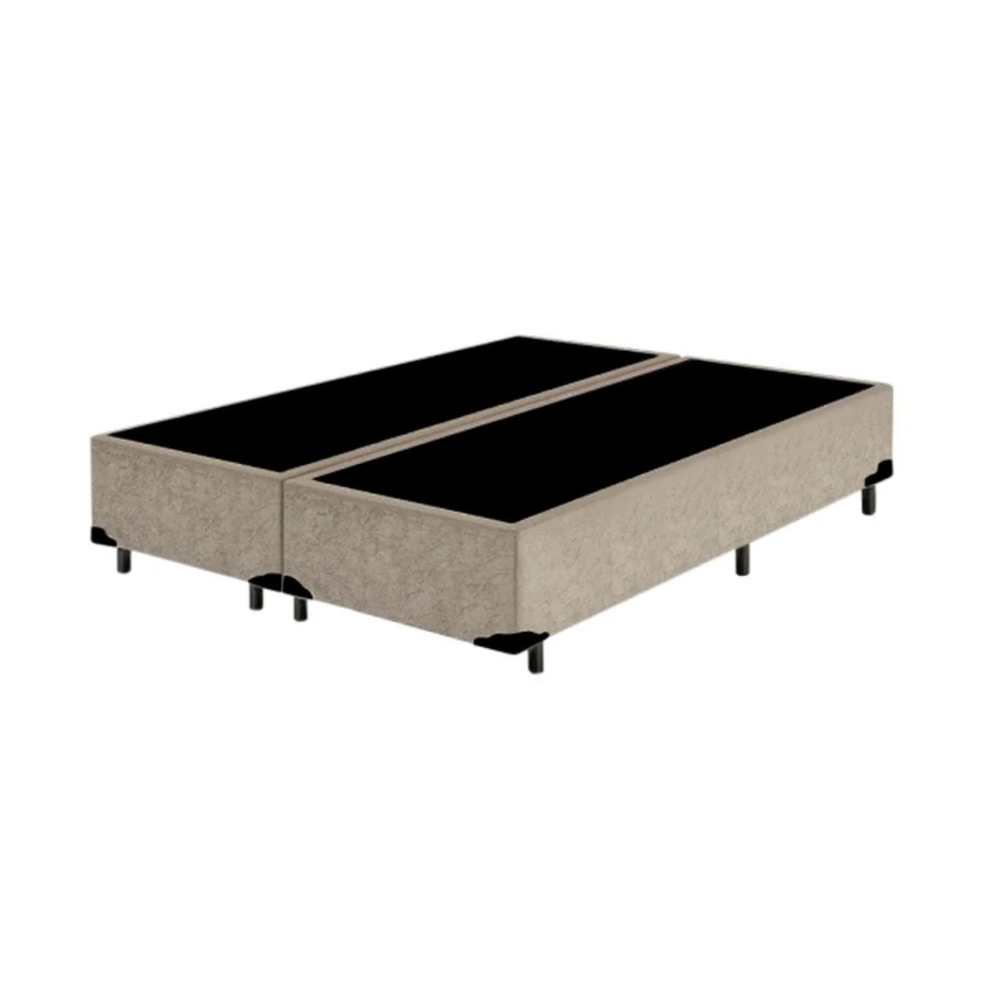 Cama Box Bipartida Suede King (193x203) - Starmoon