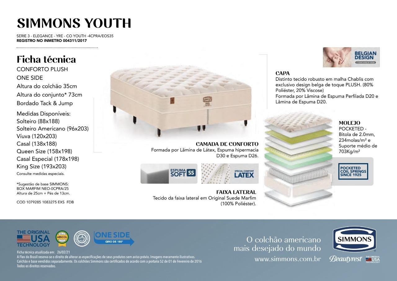 Colchão Simmons Youth Molas Ensacadas 35 cm - Starmoon
