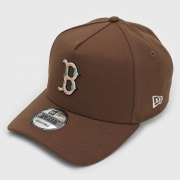 Boné New Era 9forty A-frame MLB Boston Marrom