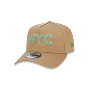 Boné New Era 9forty A-frame NYC Bege