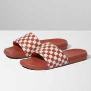 Chinelo Vans Slide On La Costa Checkerboard Hot Sauce
