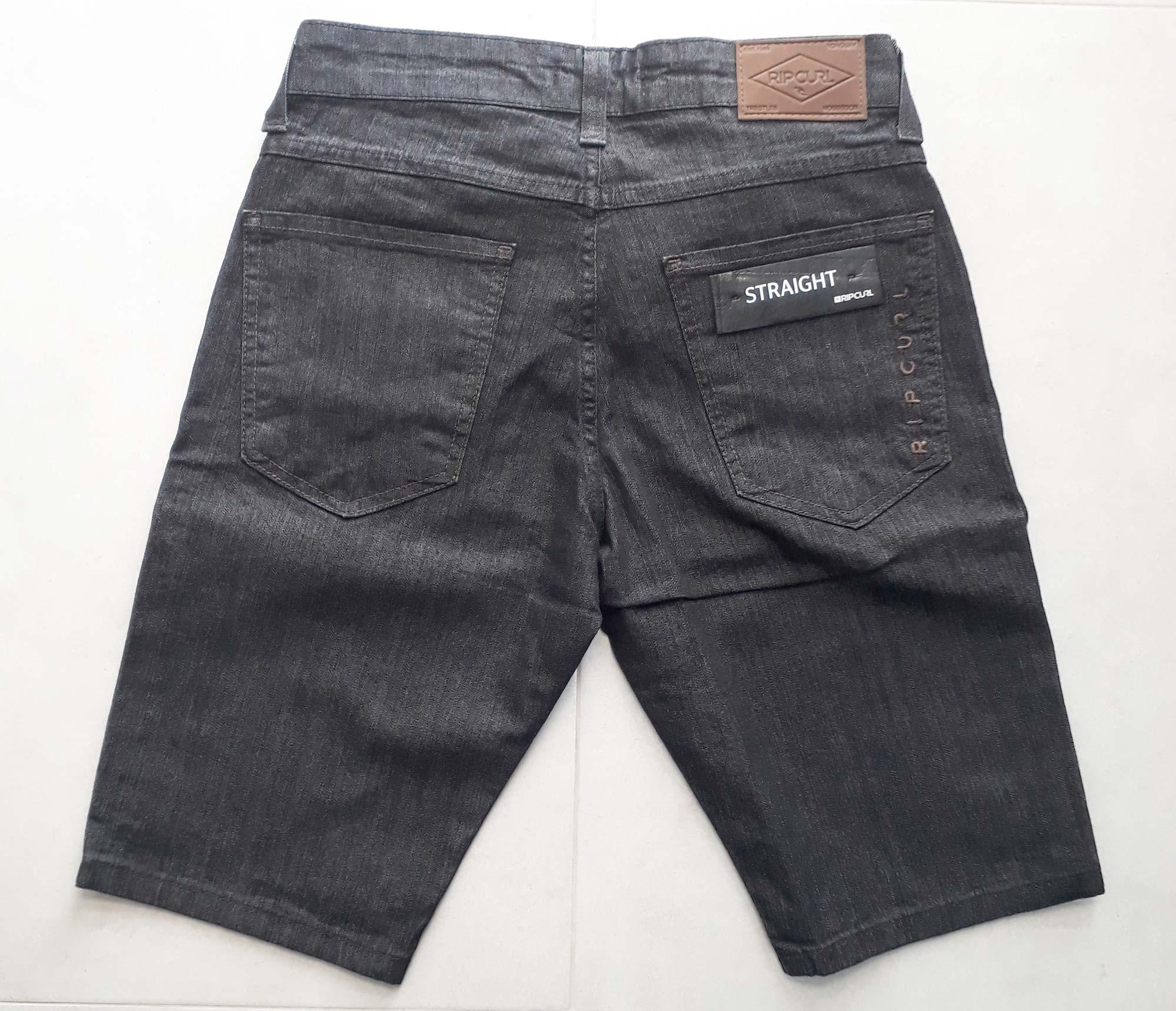 Bermuda Jeans Rip Curl Preto - 36