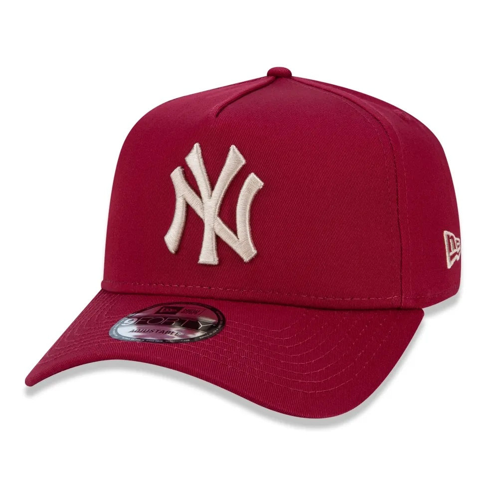 Boné New Era 9forty A-frame New York Yankees Bordo