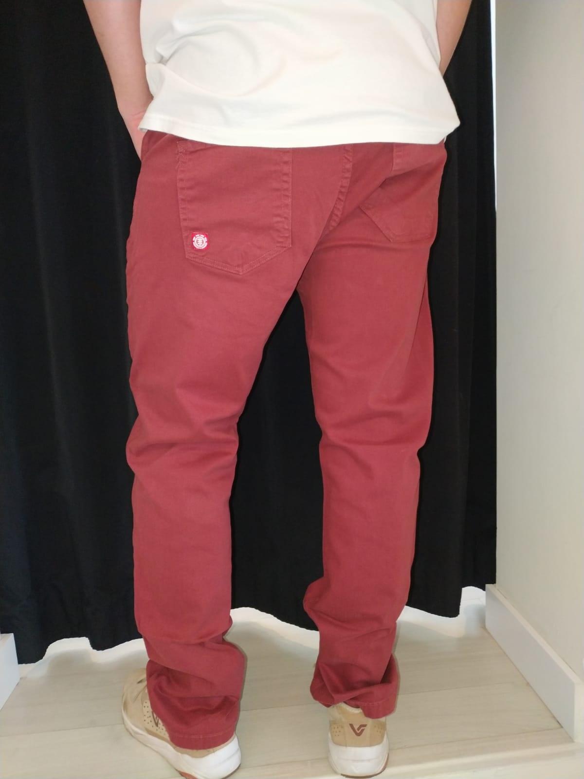 Calça Jeans Element Bordo