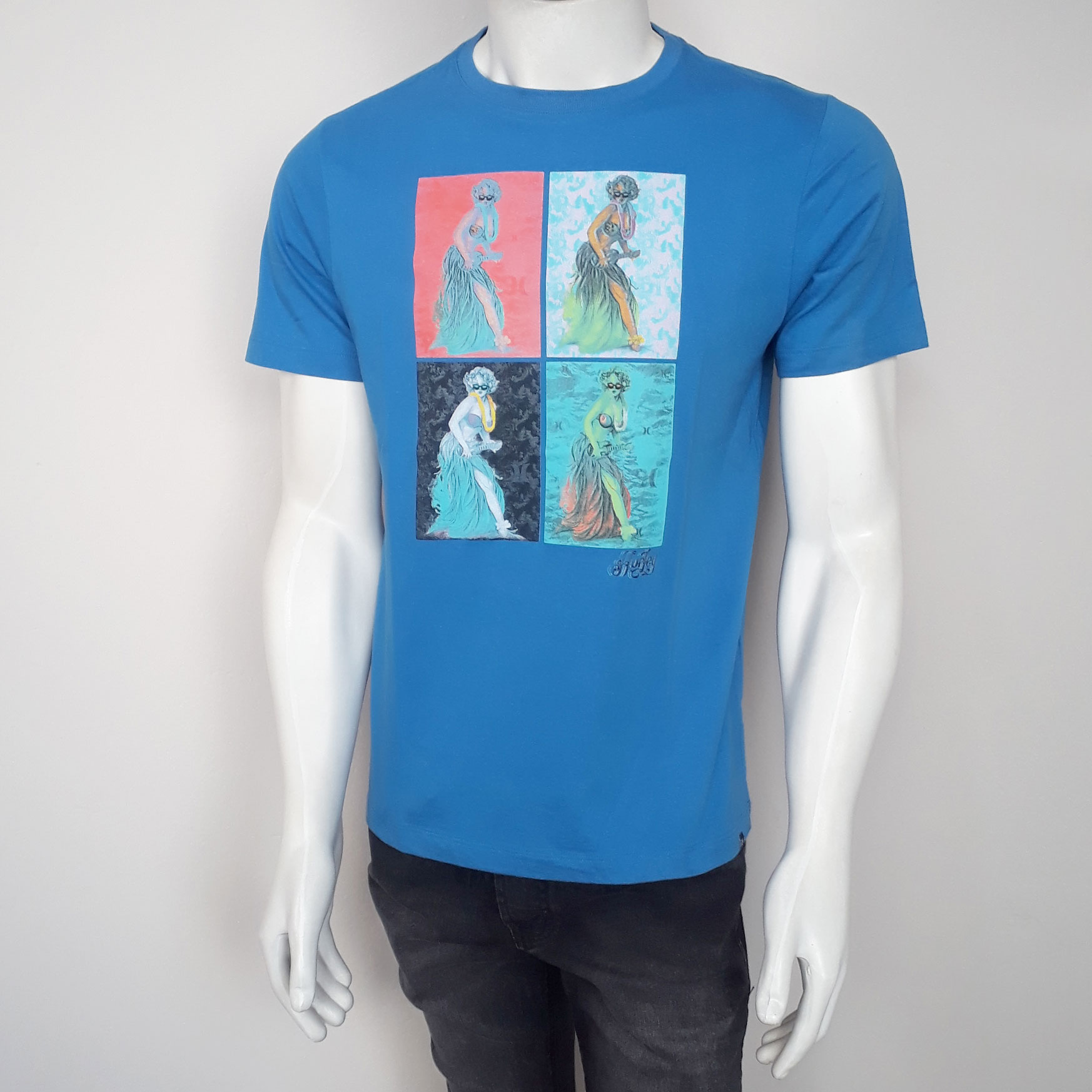 Camiseta Hurley Silk Hula 629025 Azul - P