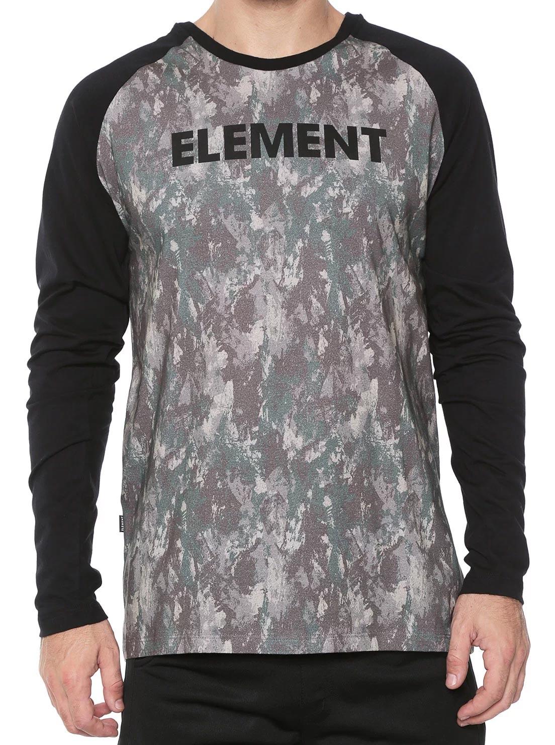 Camiseta Manga Longa Element Camo Pant