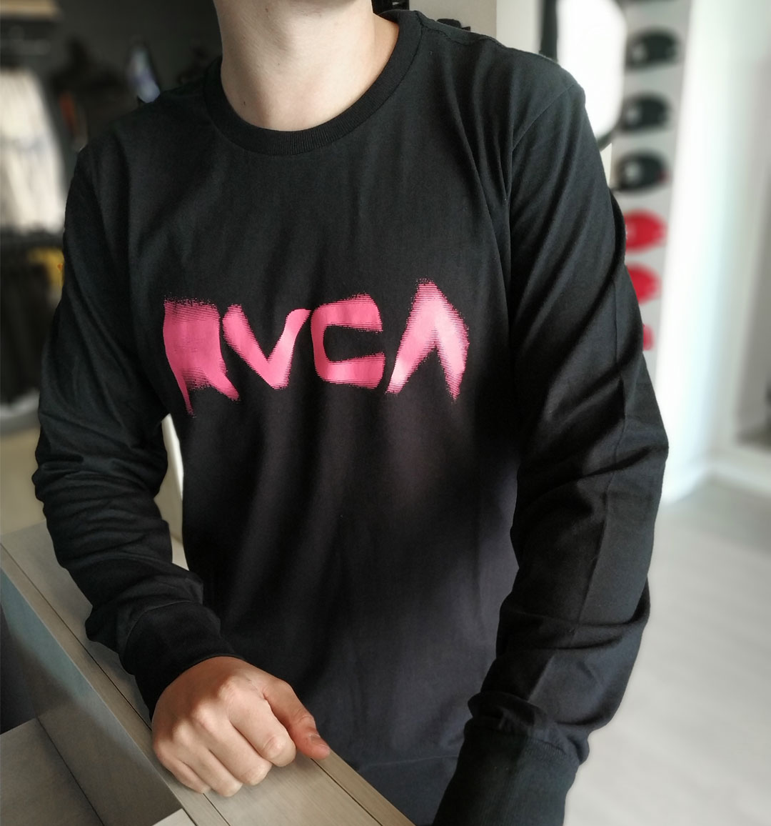 Camiseta Manga Longa RVCA Blurs