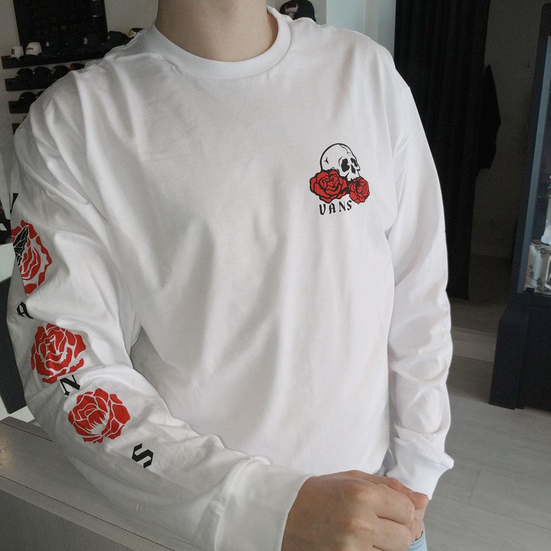 Camiseta Manga Longa Vans Rose Bed LS