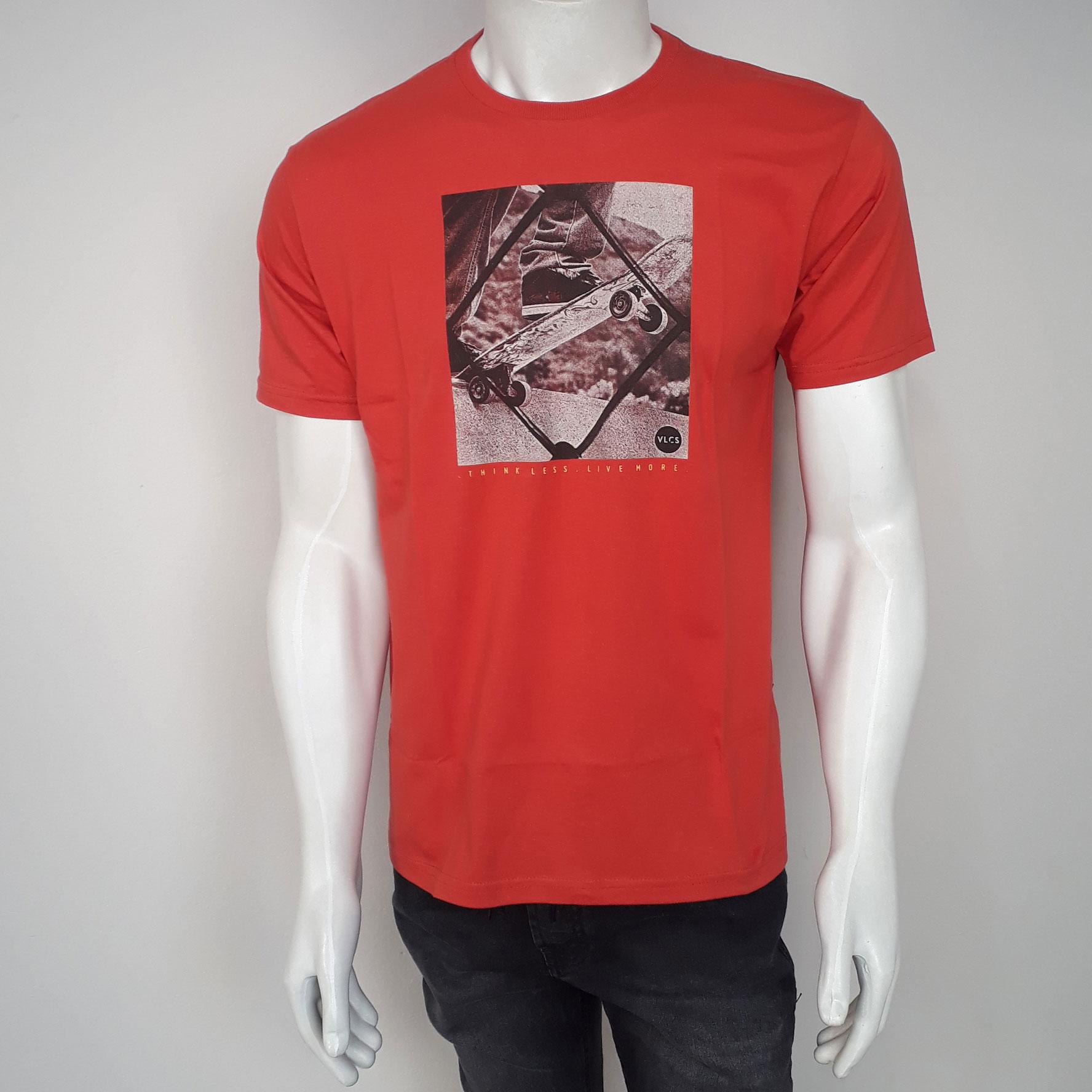 Camiseta VLCS Básica Skate Vermelho - P