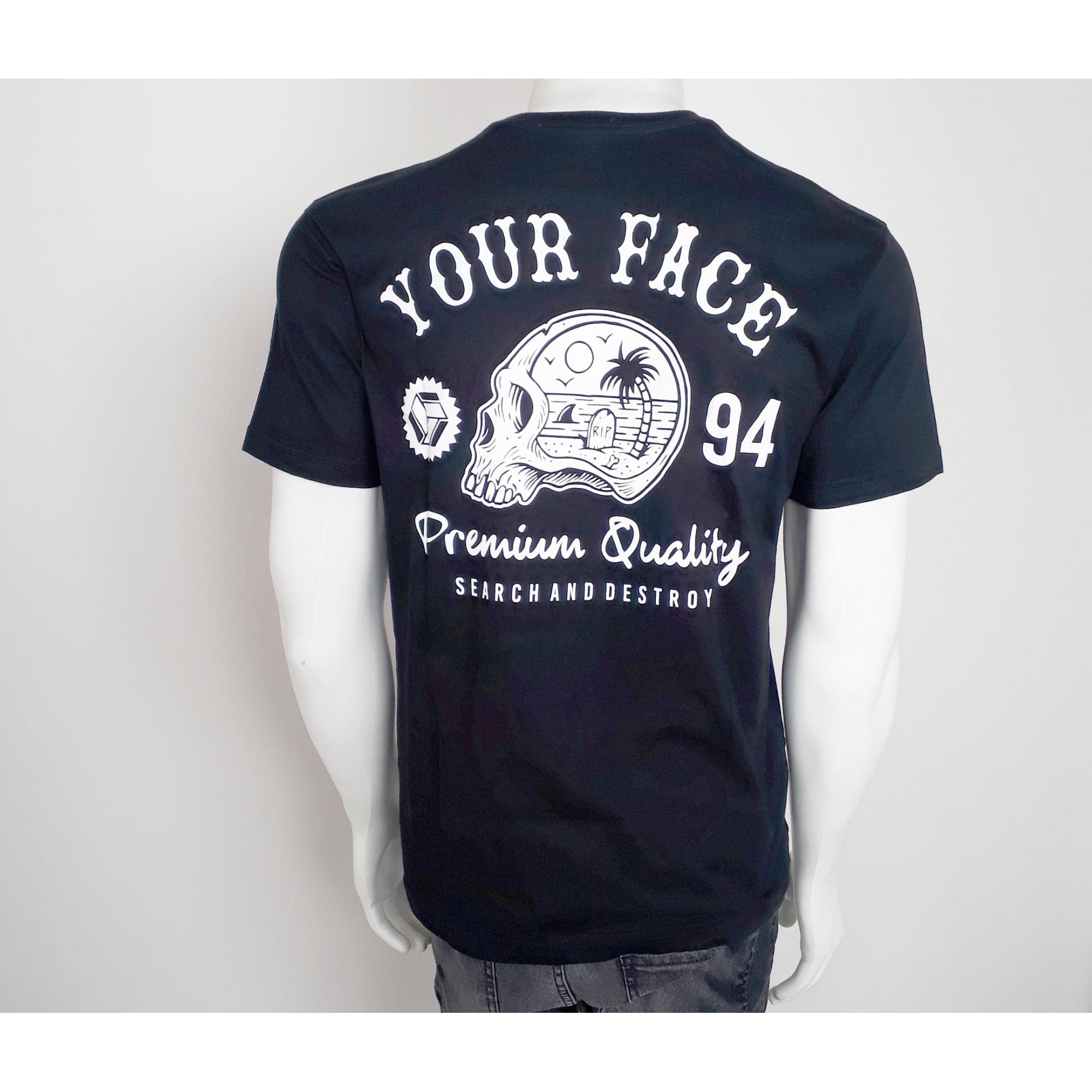 Camiseta Your Face Caveira Preto - M