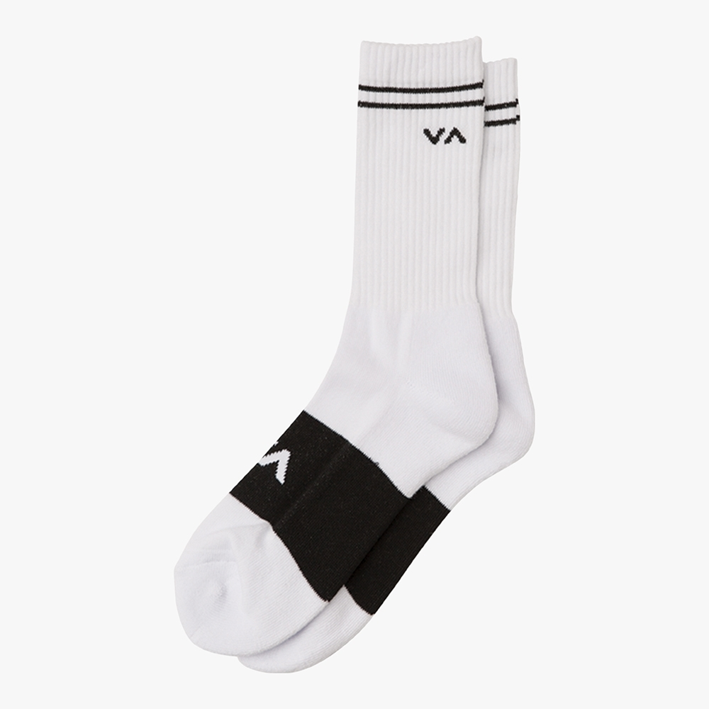 Meia RVCA Basic Block White