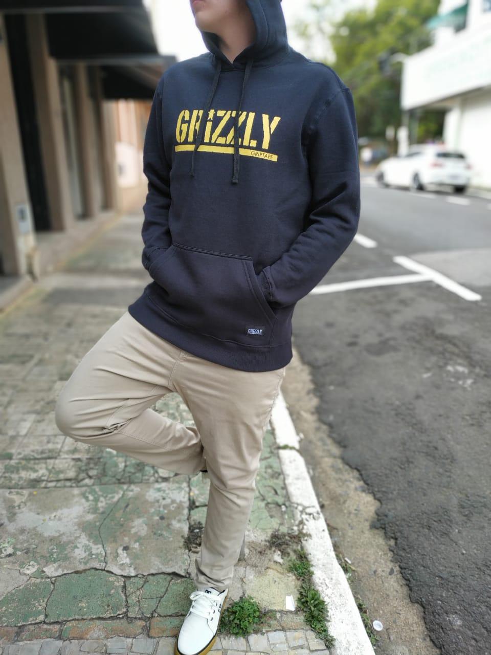 Moletom Canguru Fechado Grizzly Stamped