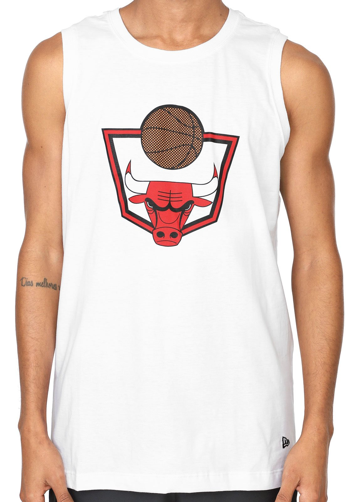 Regata New Era Chicago Bulls Branca