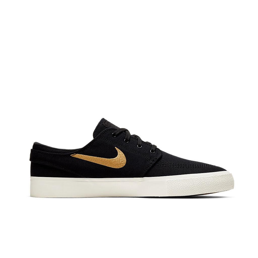 Tênis Nike SB Zoom Stefan Janoski Canvas RM Black Gold